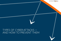 Types of Cyber-attacks and How to Prevent Them